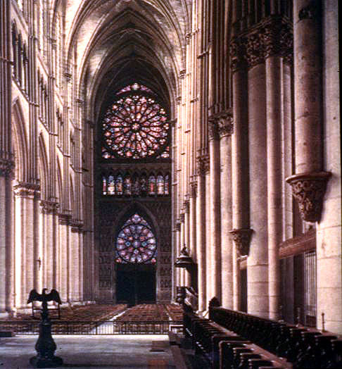 Reims Cathedral Interior 1225 1300 Gothic France