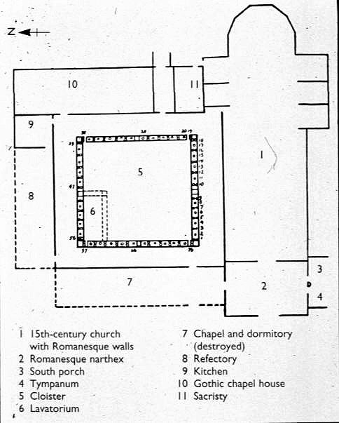 Abbey Church Of Saint Pierre Plan 1000 1025 Romanesque Moissac France