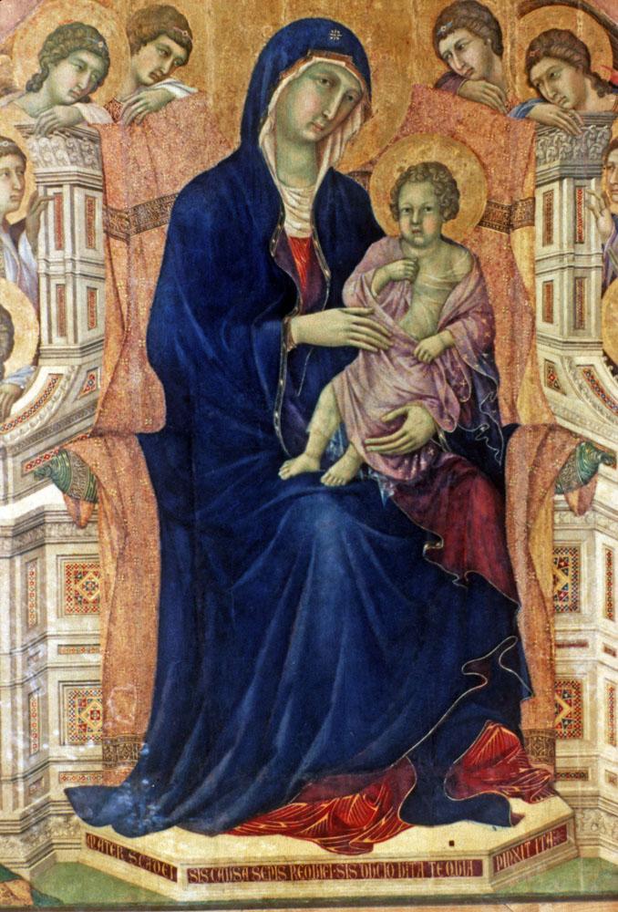 Madonna And Child by Duccio Duccio Maesta Madonna Amp Child
