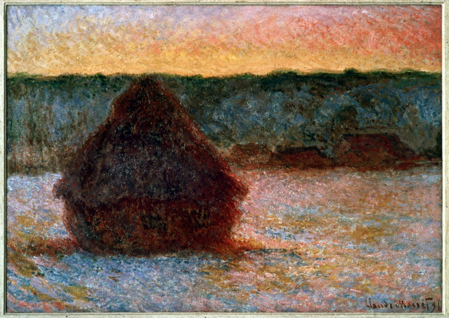 A Compare/Contrast of Monet's Grainstack(Sunset) and van Gogh's The Sower