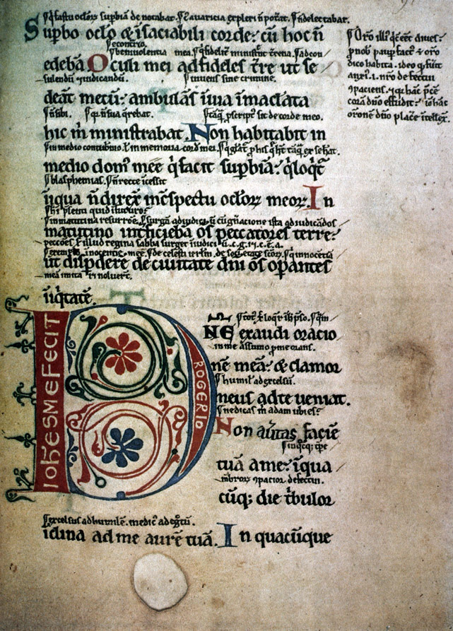 Glossed Psalter Psalter With Gloss