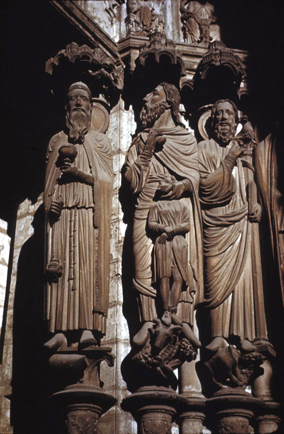 Chartres Notre Dame Cathedral Abraham Isaac Jamb Figures From N Transept Portal Gothic Period Early 13th C France