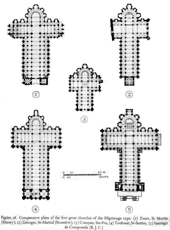 Pilgrimage Church Plans Of Churchs In France Spain 11 12th C