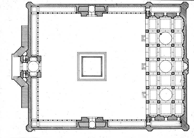 Agra Red Fort Moti Masjid 1647 53 Plan