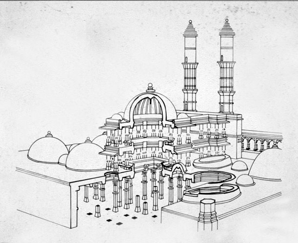 Plan Elevation Section Of Mosque : Pre mughal architecture