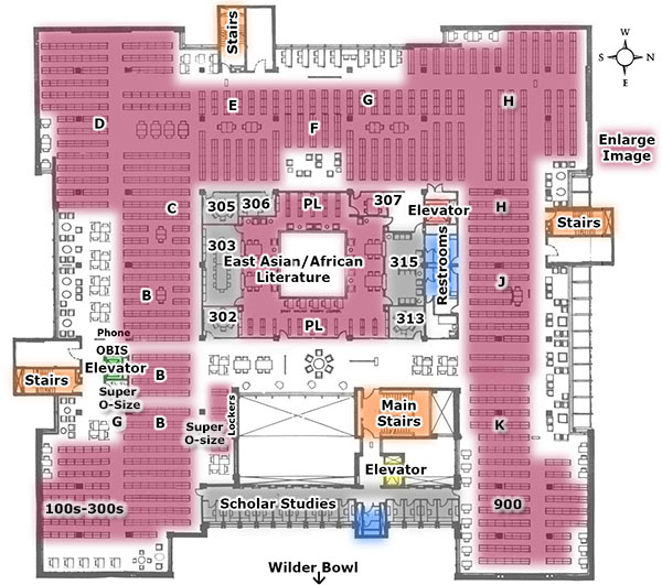 Map: Mudd Library 3rd Floor