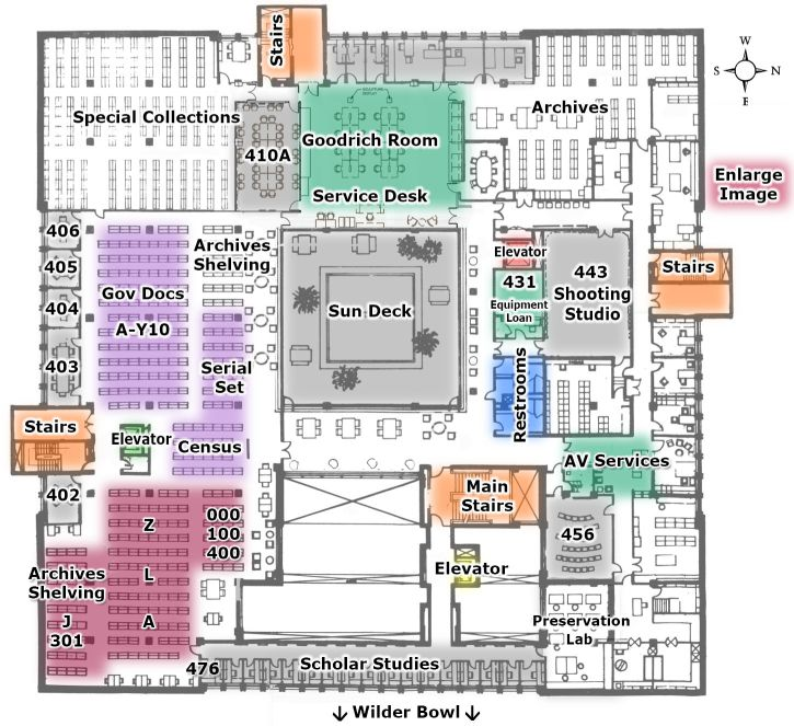 Map: Mudd Library 2nd Floor