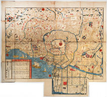 Mansei oedo ezu (Pocket Map of Edo)