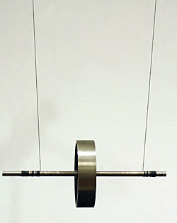 maxwells wheel Maxwell's yo-yo wind the strings around the axle ends (in one layer) until the  wheel reaches the support rod, then allow the wheel to fall because the strings.